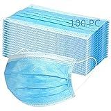 MaNMaNing Mascarillas Azul 100 Unidades con Elástico para Los Oídos 20200710-MANING-A100...