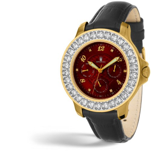 ASTBOERG © Royal Diamond Damen Uhr Rot AT406R