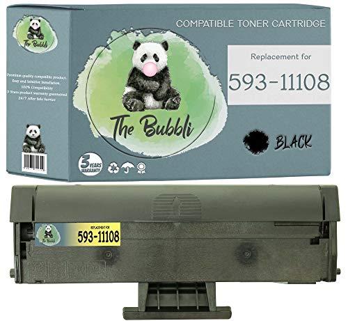 The Bubbli Original | 593-11108 HF44N Compatible Toner for DELL B1160 B1160W B1163 B1163W B1165 B1165NFW (1 BLACK)
