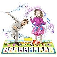 *【Multifunktion】Kinder klaviermatte mit 8 verschiedenen Instrumenten, wie Klavier / Violine / Akkordeon / Trompete / Vibraphon / Oboe / Gitarre / Fl?te. Berühren Sie spielen Klaviermatte, drücken Sie 10 Funktionstasten, spielt die erstaunliche Melodi...