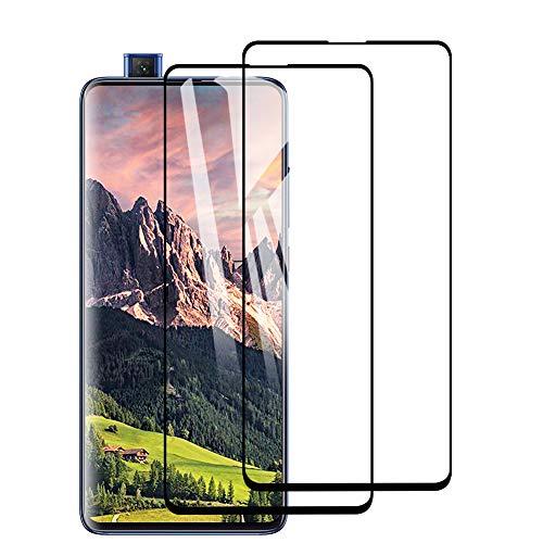 [2 Pack] Amonke Protector de Pantalla para Xiaomi Mi 9T / MI 9T Pro Cristal Templado, 3D Curvado Completa Cobertura, 9H Dureza, Alta Definicion, Templado Screen Protector para Mi 9T / MI 9T Pro