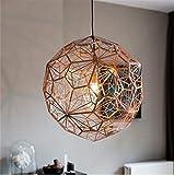 DHXX Estilo de Europa del Norte Industrial araña Arte Retro Cafetería Restaurante Hierro luz Restaurante Bar Recepción Lámparas LED