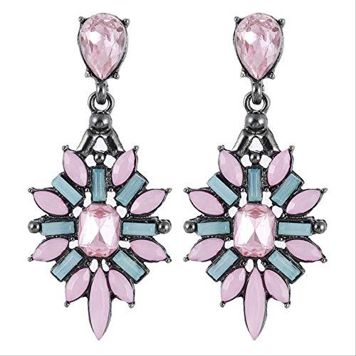Geschenken Oorbellen Dames Bergkristal Oorbellen Hars Kristal Blauw Zoet Metaal Met Edelstenen Oor Oorbellen Damese0369roze