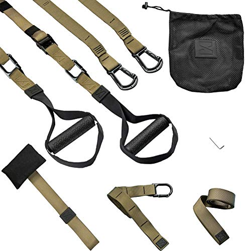 Infinitsports - Elite Schlingentrainer-Set mit 3 Befestigungslösungen (inkl. Türanker), Premium Sling Trainer/Suspension Trainer für zuhause und unterwegs