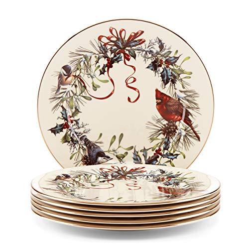 Lenox Winter Greetings 6-Piece Dinner Plate Set
