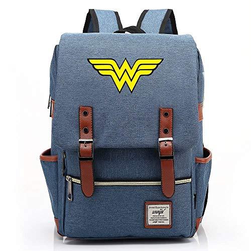 Mochila Wonder Woman, mochila Oxford para adolescentes al aire libre, mochila universitaria, se adapta a una tableta portátil de 15 '', resistente al agua de 14 pulgadas. 04 Presione la imagen