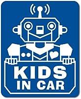 imoninn KIDS in car ステッカー 【マグネットタイプ】 No.50 ロボットさん (青色)