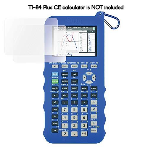 Silicone Case for Ti 84 Plus CE Calculator (Blue) - Cover for Texas Instruments Ti-84 Graphing Calculator - Silicon Skin for Ti84 Plus - Protective & Anti-Scretch Cases - Ti 84 Accessories by Sully