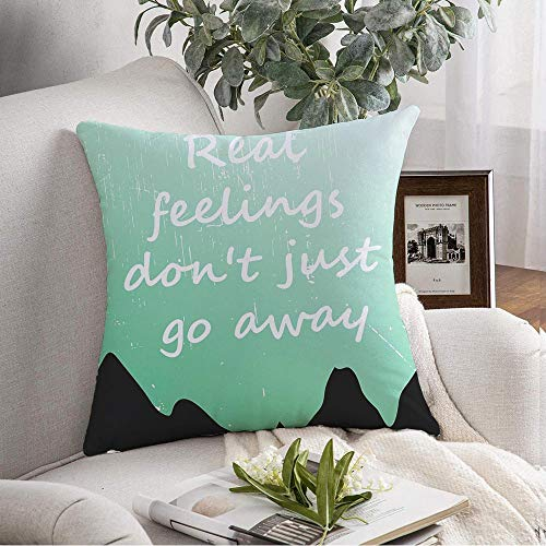 Decorative Throw Pillow Cover Green Cloth Always Cool Awesome Slogan Graphics Design Various Best Calm Carry Stay College Day Cute Soft Cushion Cover Case for Couch Bedroom Car 16x16 Inch