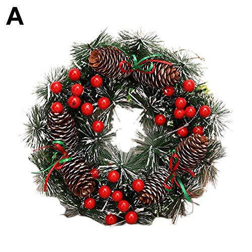 Liteness Corona De Navidad para Puerta, Coronas Navideñas Decoración De Navidad Papá Noel Colgante Árbol De Navidad Colgante Adornos Fine