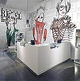 Kyzaa Pvc Inglés Graffiti Niña Moda Tienda De Perfumes Centro Comercial Tienda De Ropa Mural Grande Papel Tapiz Restaurantes Personalizados Tamaños