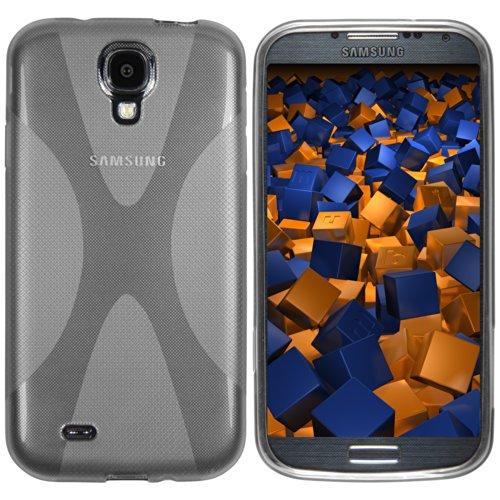 mumbi Hülle kompatibel mit Samsung Galaxy S4 Handy Case Handyhülle, transparent schwarz