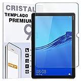 REY Protector de Pantalla para Huawei MEDIAPAD M5 Lite 10.1', Cristal Vidrio Templado Premium, Táblet
