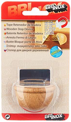 Brinox B78280Y Tope retenedor de madera con imán, Roble, 4.8x3.6x2.5 cm