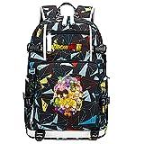 ZZGOO-LL Dragon Ball Son Goku/Vegeta IV/Torankusu Mochila de Anime Mochila con USB para niños y niñas Adolescentes Unisex-F