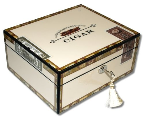Angelo Humidor High Closs Cigarbox V-460 inkl. Lifestyle-Ambiente Tastingbogen