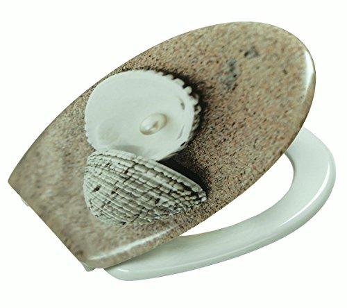 Toiletbril wc-bril wc-deksel wc-deksel met schelp patroon