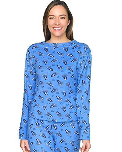 Tops & Bottoms Pijama para Dama/Mujer De PantalonY Playera De Manga Larga