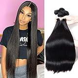 Brazilian Straight Hair Bundles 100% Human Hair Straight Bundles (16 18 20) 10A Unprocessed Virgin Hair Straight Weave Hair Human Bundles