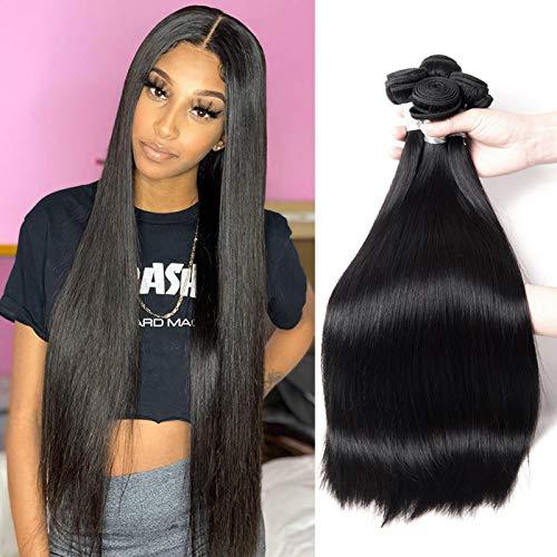 Brazilian Straight Hair Bundles 100% Human Hair Straight Bundles 10A Unprocessed Virgin Hair Straight Weave Hair Human Bundles (24 26 28)