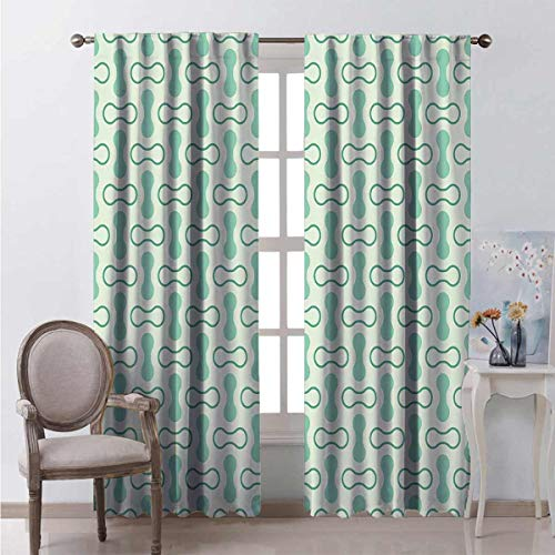 99% blackout curtains Abstract Rounded Shapes For bedroom kindergarten living room W72 x L72 Inch