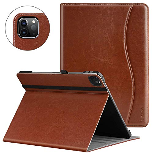 ZtotopCase for New iPad Pro 12.9 Case 2020, Premium Leather Folio Stand Case Smart Cover with Auto Sleep/Wake, Supports iPad Pencil Charging for 2020 iPad Pro 12.9 Inch 4th Generation - Brown