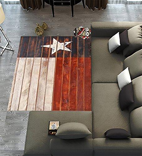 Custom Texas Star Flag Area Rugs Carpet,Texas Star Flag Modern Carpet Floor Rugs Mat for Home Living Dining Room Playroom Decoration Size 7'x5'