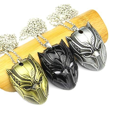 Guerra civil Pantera máscara collar cosplay joyería colgante collar superhéroe colgante pantera negra collares moda hombres mujeres regalo