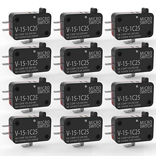 Gebildet 12 Piezas 125V/250V 15A Momentáneo Micro