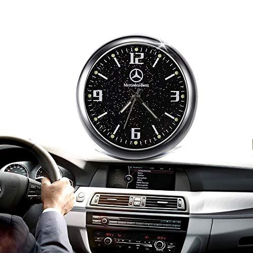 Mini-Uhr für Auto-Armaturenbrett, Auto-Uhr, Fahrzeuginnenausstattung, leuchtend, elektronische Quarzuhr, Ornamente, mit Lüftungsclip