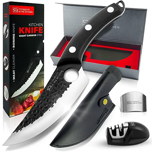 Kitchen Knife Full Tang Chef Knife, our Meat Cleaver Butcher Knife is used as Meat Knife, Boning...