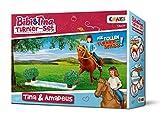 CRAZE BIBI & TINA Turnier-Set Spielfiguren Pferdefiguren Tina und Amadeus mit Zubehör  Spielzeug...