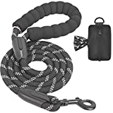 iYoShop 6 FT Strong Dog Leash with Zipper Pouch, Comfortable Padded Handle and Highly Reflective...