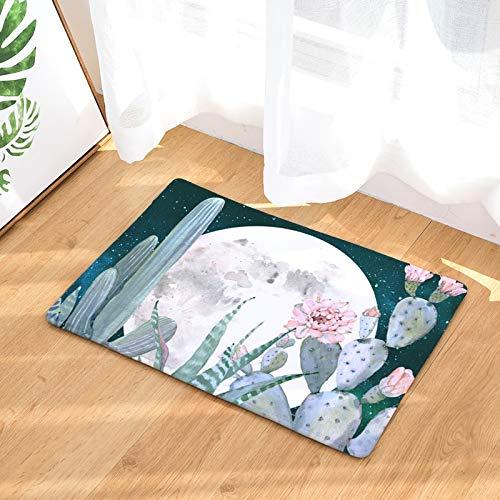 OPLJ Alfombra de Estilo Tropical para el hogar Cactus Kitsch Alfombra Absorbente de gallina Alfombras de baño Antideslizantes Decoración del hogar Alfombra Interior A5 40x60cm