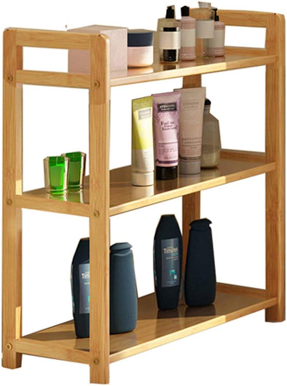 Solid Wood Bedroom Storage Shelf Kitchen Shelf Multi-Layer Storage Rack (Size   L-68CM)
