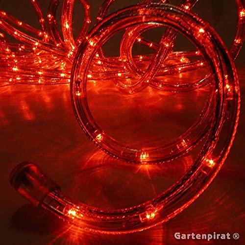 LED Lichtschlauch 9 m rot für innen außen