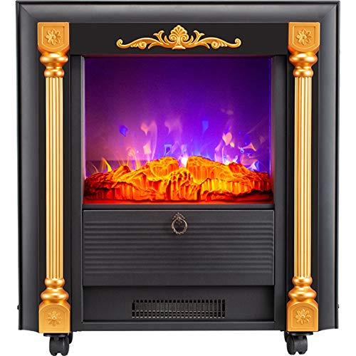 Chimenea Eléctrica Decorativa Estufa Calefactor Cocina eléctrica de salamandra- Realista de la Llama 3D Efecto- 1000W 2000W Habitaciones Calefacció