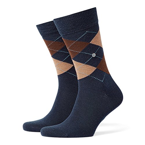 Burlington Herren Socken Edinburgh 2er Pack, Größe:40-46;Farbe:Navy (6143)