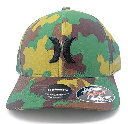 Hurley Men's Phantom CAMO Flexfit Hat MHAPHNCF 386 Green Camo