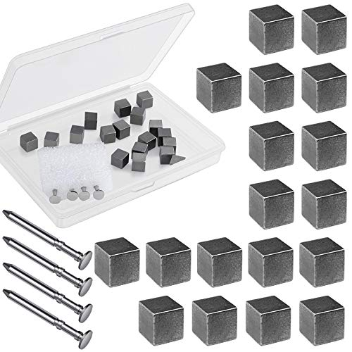 Ruisita 3 Ounces Tungsten Weights Cubes Polished Speed Axles Kit 18 Pieces Tungsten Weights Cubes...