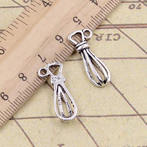 WANM 25Pcs Charms Eggbeater Whisk Kitchen Cooking 13X10Mm Tibetan Pendants Crafts Making Findings Handmade Antique Jewelry