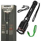 NEBO Redline 6K lumen (6000 lumen) rechargeable high power LED flashlight 6822 with EdisonBright USB powered LED reading light bundle