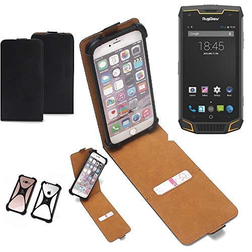 K-S-Trade® Handy Schutz Hülle Für Ruggear RG740 Schutzhülle Bumper Schwarz 1x