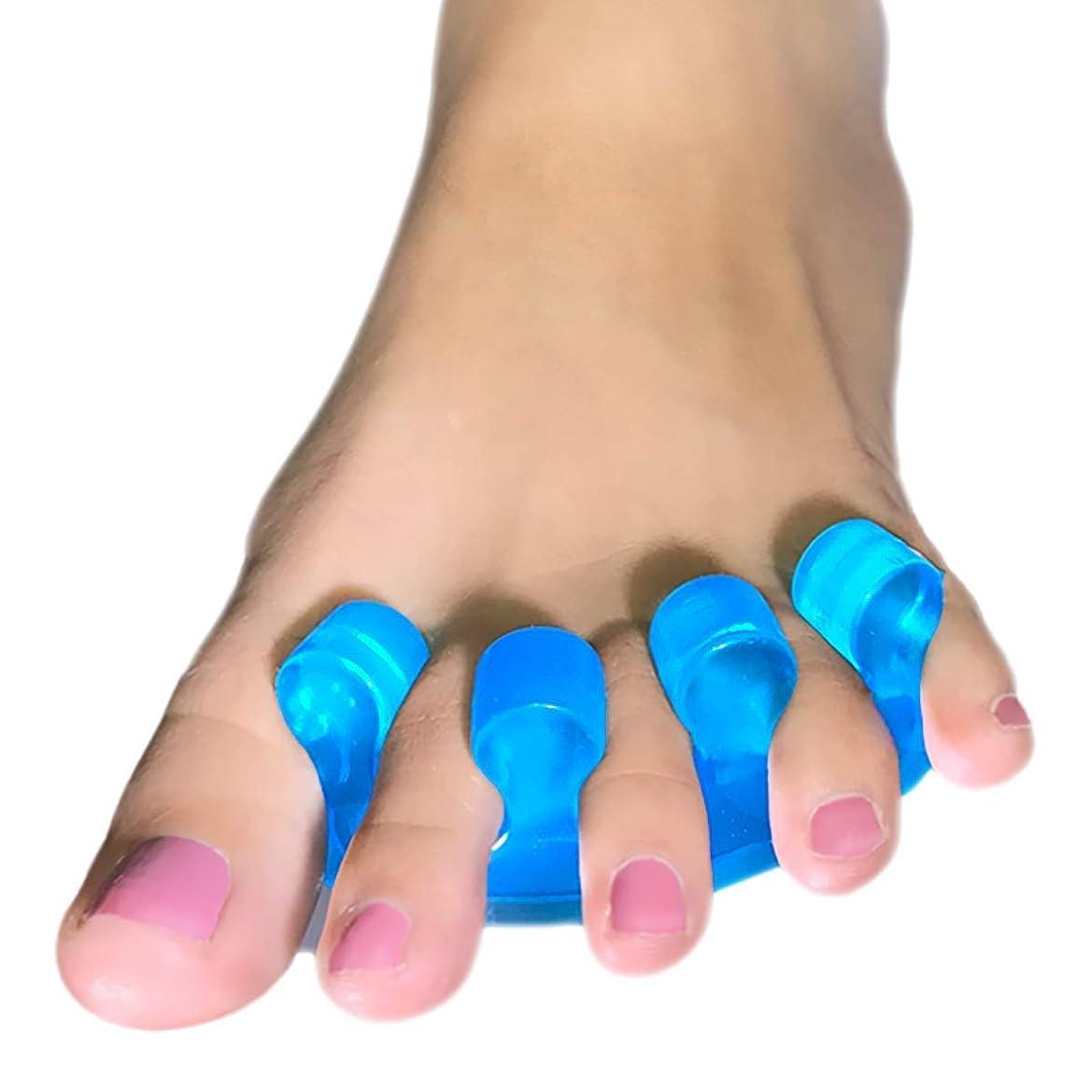 主流人気ビリーヤギENERFOOT 腱膜矯正?ゲルつま先セパレーター - 腱膜疼痛軽減、ハンマーつま先矯正、腱膜パッド外反母趾キット足指スペーサー