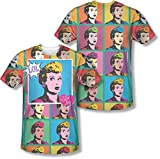 I Love Lucy - Lol Hombres (Front / Back Print) T-Shirt, XX-Large, Sublimate White