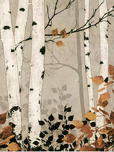 WOZUIBAN Puzzles for Adults 1500 Pieces Birch Forest Oil Painting Brain Challenge Puzzle for Children Kids Teenagers 87x57cm