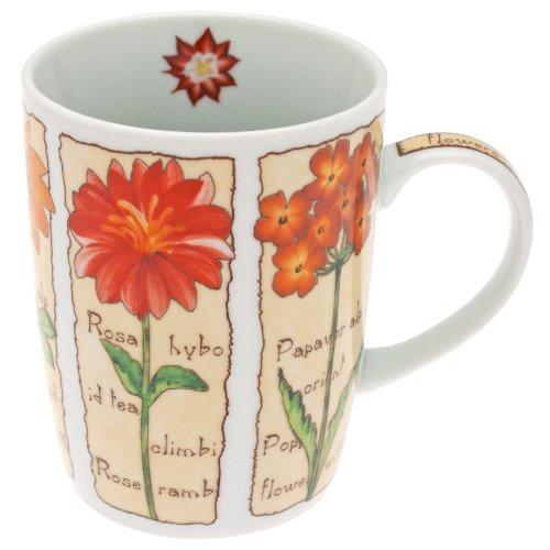Fischer Kaffeebecher, Kaffeetasse, Porzellan, Bon Box, Tasse, Blumen-Motiv 330ml