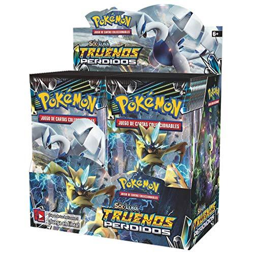 The Pokémon Company kartonnen doos met 36 enveloppen (zon- en maanmotief): gele rouw op Spaans kleur (POSMLT02D