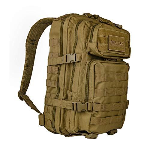 MIL-TEC US Assault Zaino militare, 20 l, Marrone (Coyote)