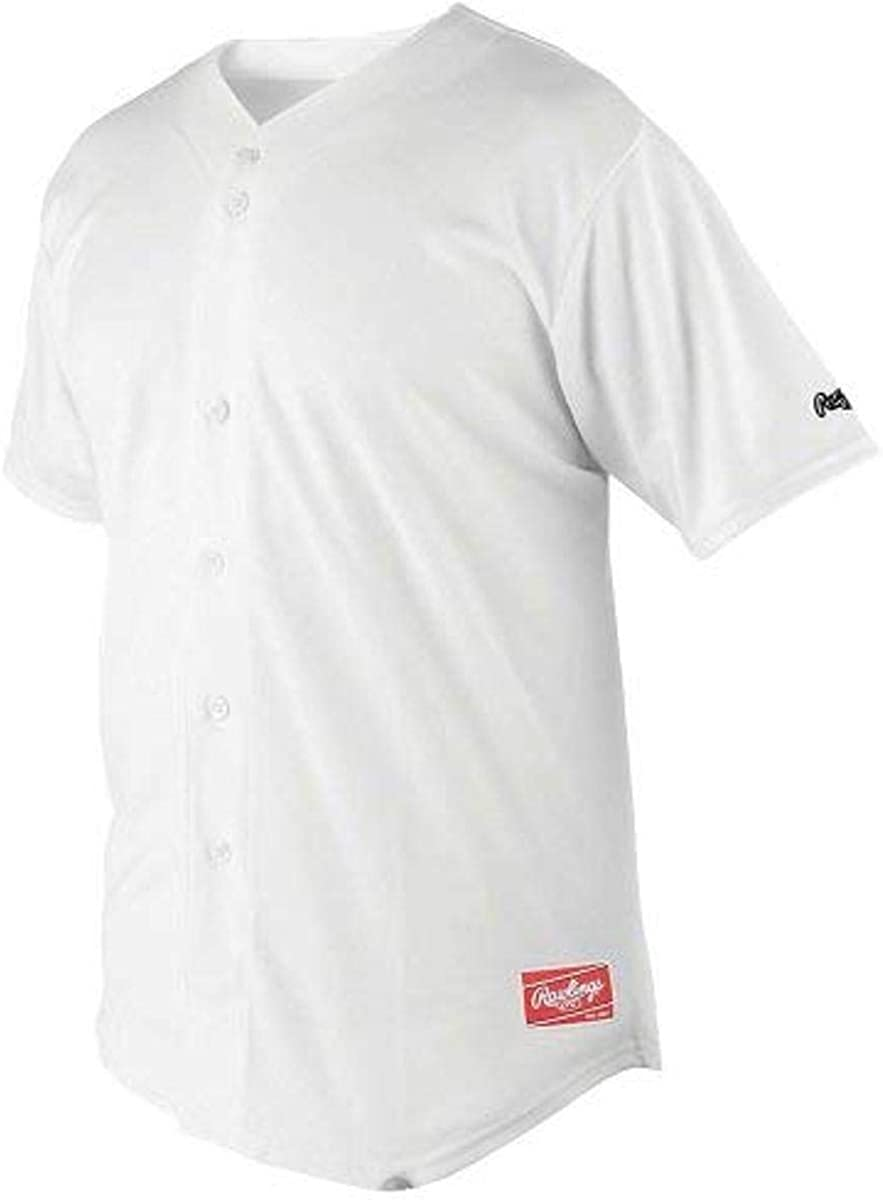 Time sale Rawlings Men's Full Button with Sleeves Jersey Surprise price Raglan
